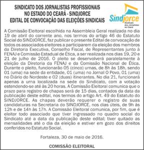 EDITAL - ELEIÇÕES 2016